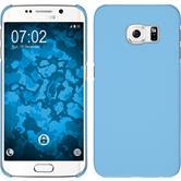 Hardcase Galaxy S6 Edge gummiert hellblau