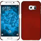 Hardcase Galaxy S6 Edge gummiert rot