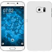 Hardcase Galaxy S6 Edge gummiert weiß
