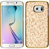 Hardcase Galaxy S6 Edge Hexagon gold + flexible Folie