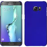 Hardcase für Samsung Galaxy S6 Edge Plus gummiert blau