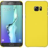 Hardcase für Samsung Galaxy S6 Edge Plus gummiert gelb