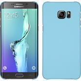 Hardcase Galaxy S6 Edge Plus gummiert hellblau