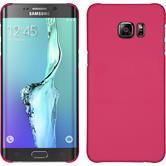 Hardcase für Samsung Galaxy S6 Edge Plus gummiert pink