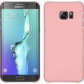 Hardcase für Samsung Galaxy S6 Edge Plus gummiert rosa