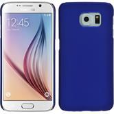 Hardcase für Samsung Galaxy S6 gummiert blau