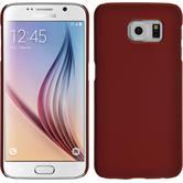 Hardcase Galaxy S6 gummiert rot