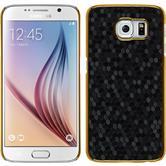 Hardcase Galaxy S6 Hexagon schwarz + 2 Schutzfolien