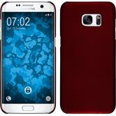 Hardcase Galaxy S7 Edge gummiert rot Case