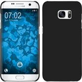 Hardcase für Samsung Galaxy S7 Edge gummiert schwarz