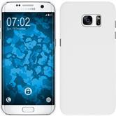 Hardcase Galaxy S7 Edge gummiert weiß