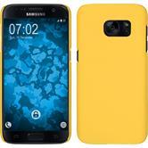 Hardcase Galaxy S7 gummiert gelb + 2 Schutzfolien