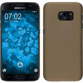 Hardcase Galaxy S7 gummiert gold