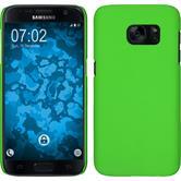 Hardcase Galaxy S7 gummiert grün + 2 Schutzfolien