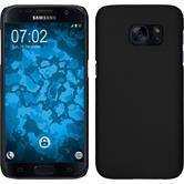 Hardcase Galaxy S7 gummiert schwarz
