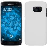 Hardcase Galaxy S7 gummiert weiß