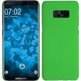 Hardcase Galaxy S8 gummiert grün + flexible Folie