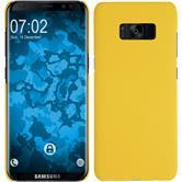 Hardcase Galaxy S8 Plus gummiert gelb + flexible Folie