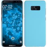 Hardcase Galaxy S8 Plus gummiert hellblau + flexible Folie