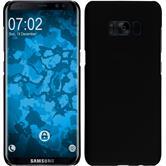 Hardcase Galaxy S8 Plus gummiert schwarz + flexible Folie