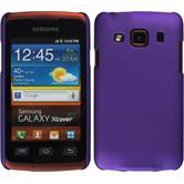 Hardcase Galaxy Xcover gummiert lila + 2 Schutzfolien