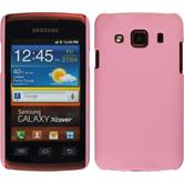 Hardcase for Samsung Galaxy Xcover rubberized pink