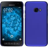 Hardcase Galaxy Xcover 4 gummiert blau + 2 Schutzfolien