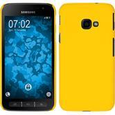 Hardcase Galaxy Xcover 4 gummiert gelb + 2 Schutzfolien