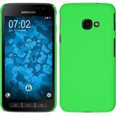 Hardcase Galaxy Xcover 4 gummiert grün + 2 Schutzfolien