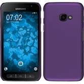 Hardcase Galaxy Xcover 4 gummiert lila + 2 Schutzfolien