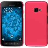 Hardcase Galaxy Xcover 4 gummiert pink + 2 Schutzfolien