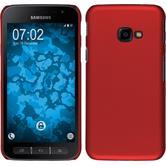 Hardcase Galaxy Xcover 4 gummiert rot + 2 Schutzfolien