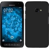 Hardcase Galaxy Xcover 4 gummiert schwarz + 2 Schutzfolien