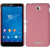 Hardcase für Sony Xperia E4 gummiert rosa