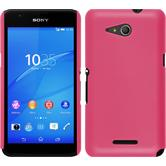Hardcase for Sony Xperia E4g rubberized hot pink