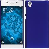 Hardcase Xperia L1 gummiert blau + 2 Schutzfolien