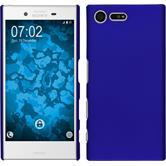 Hardcase Xperia X Compact gummiert blau + 2 Schutzfolien