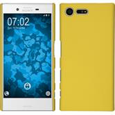 Hardcase Xperia X Compact gummiert gelb + 2 Schutzfolien