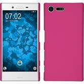 Hardcase Xperia X Compact gummiert pink + 2 Schutzfolien