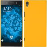 Hardcase Xperia XA1 Ultra gummiert gelb