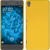 Hardcase Xperia XA gummiert gelb + 2 Schutzfolien