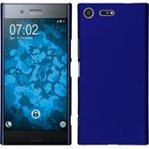 Hardcase Xperia XZ Premium gummiert blau
