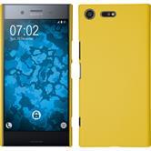 Hardcase Xperia XZ Premium gummiert gelb