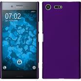Hardcase Xperia XZ Premium gummiert lila + 2 Schutzfolien