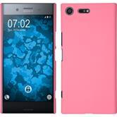 Hardcase Xperia XZ Premium gummiert rosa
