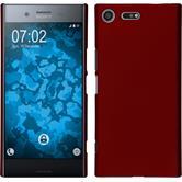 Hardcase Xperia XZ Premium gummiert rot
