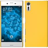 Hardcase Xperia XZs rubberized yellow