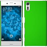 Hardcase Xperia XZs rubberized green