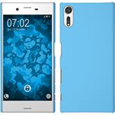 Hardcase Xperia XZs rubberized light blue