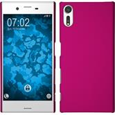 Hardcase Xperia XZs rubberized hot pink